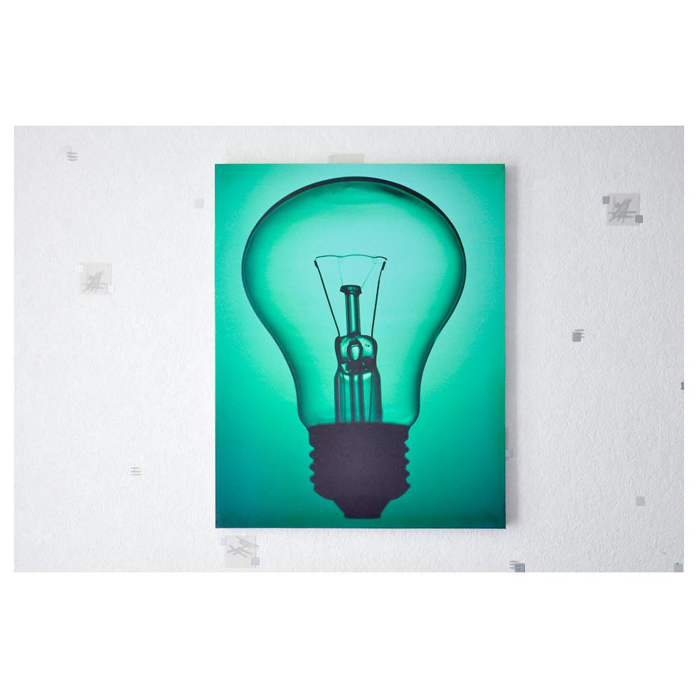 Tableau imprime ampoule vert
