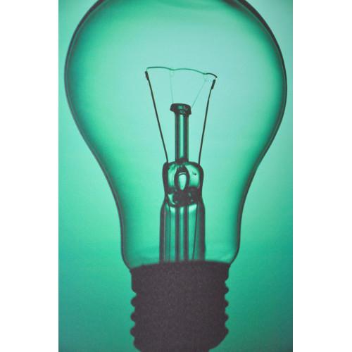 Tableau imprime ampoule verte
