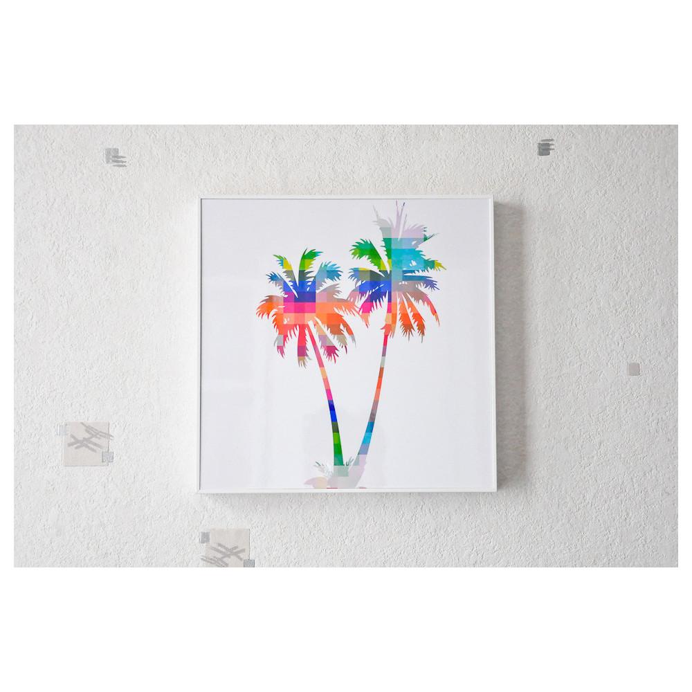 Tableau Palmier Multicolor 30x30