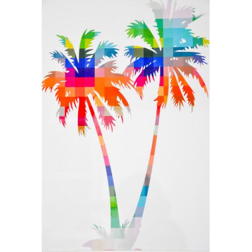 Tableau Palmier Multicolor