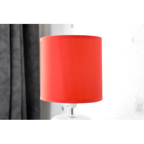 lampe blanche cylindre carreaux