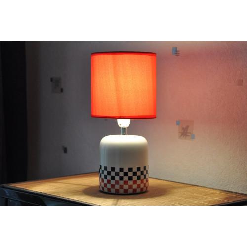 lampe cylindre carreaux