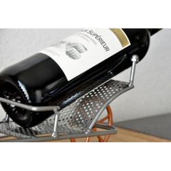 porte-bouteille style brouette forgeron