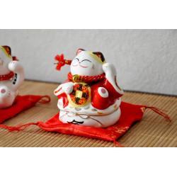 Tirelire Chat Maneki Neko Duo Blanc