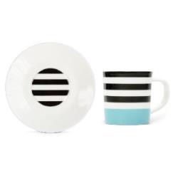 Tasse et soucoupe Café expresso Black Lines