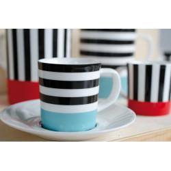 Ensemble Tasse et soucoupe pour dégustation café nespresso Black Lines