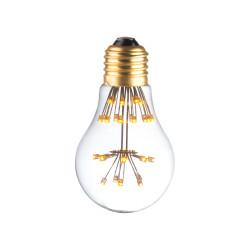 LAMPE DECO A60 E27 BLANC CHAUD ALLUMEE
