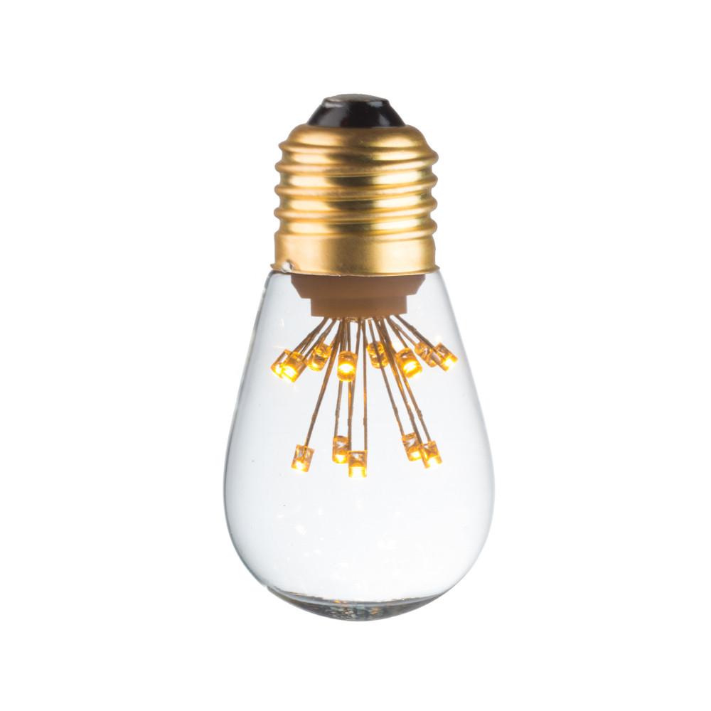LAMPE DECO T45 E27 BLANC CHAUD ALLUMEE