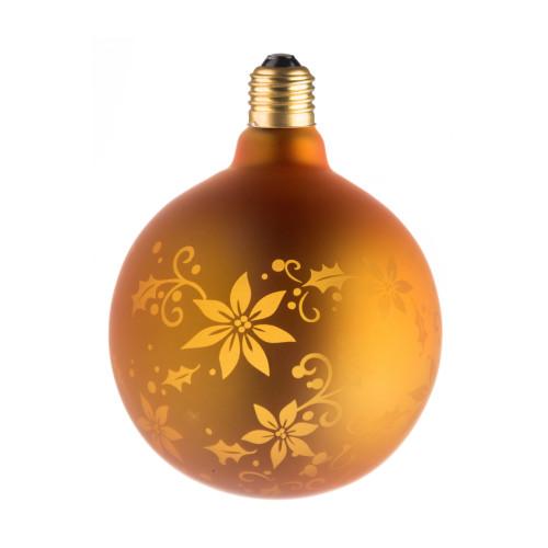 LAMPE DECO G125 E27 DORE FLEUR ETEINTE