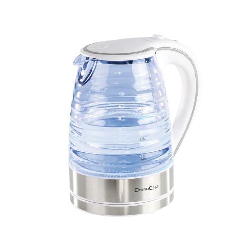 Bouilloire en verre 1.7 L blanche