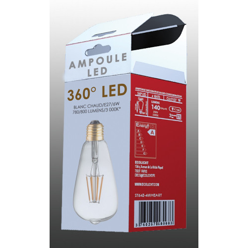 ampoule à filament ST64- 2