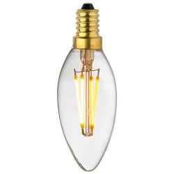 Ampoule Lampe C35 E14 filament droit