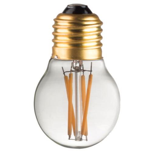 Ampoule G45 E27 filaments droits croisés 1