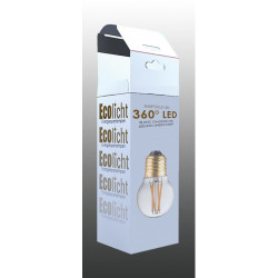 Ampoule G45 E27 filaments droits croisés 3