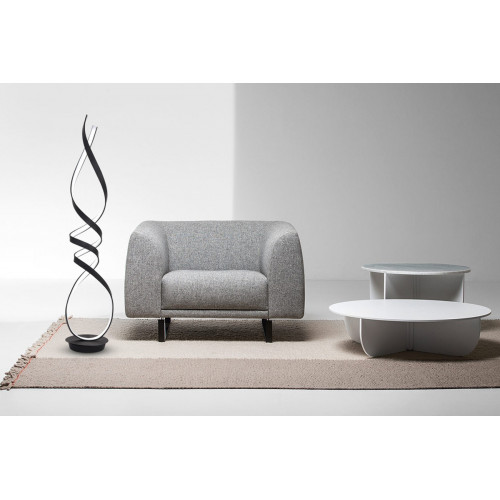 Lampadaire Design Ruban noir-2