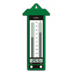 thermomètre mini maxi vert